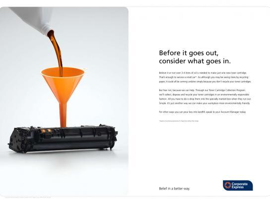 Go Green Guide Print Ad -  Print Cartridges