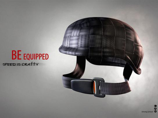 CAR Driving School Print Ad -  Helmet