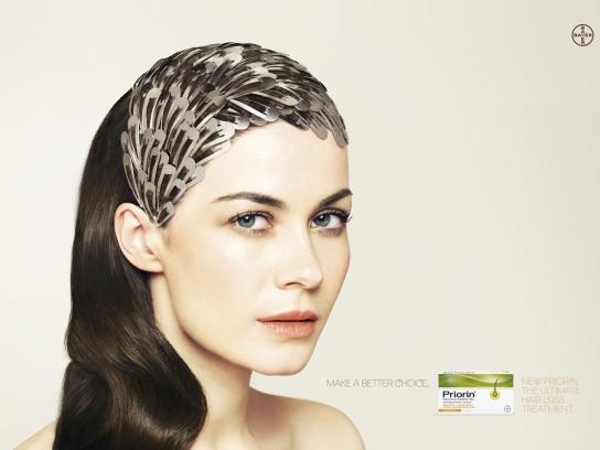 Priorin Print Ad -  Hair Clips