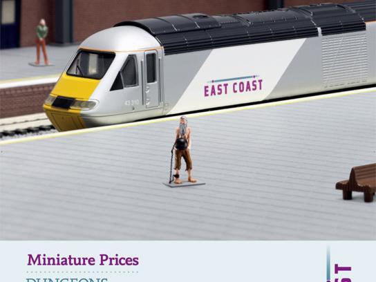 East Coast Trains Print Ad -  Miniature prices, Prisoner