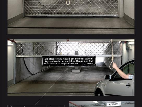 Pro Asyl Ambient Ad -  Rope
