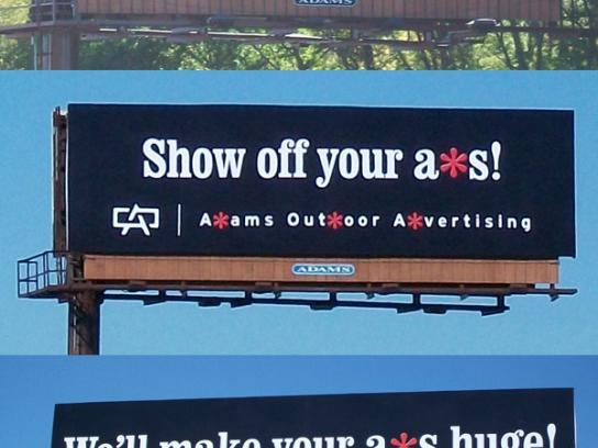 Adams Outdoor Ad -  Adams A*s campaign
