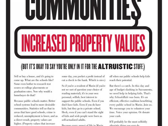 Marin County Public Schools Print Ad -  Values