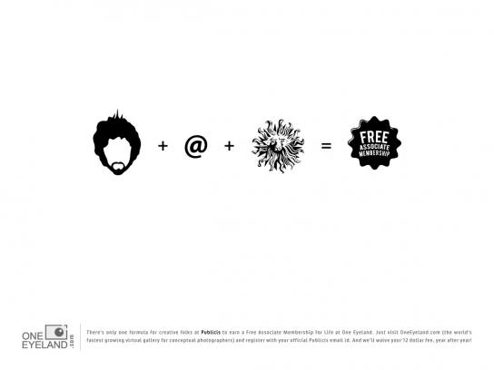 One Eyeland Print Ad -  The Formula, Publicis