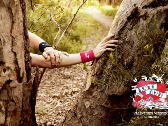 Puma Print Ad -  Love Run Position #2