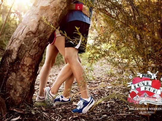 Puma Print Ad -  Love Run Position #3