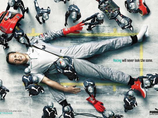 Mercedes Print Ad -  Shumacher
