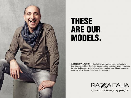 Piazza Italia Print Ad -  Our models, Punzo