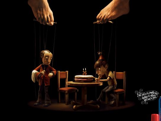 Baruel Print Ad -  Puppet Birthday