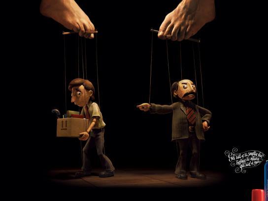 Baruel Print Ad -  Puppet Fired