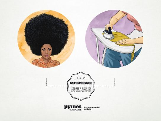 Pymes Magazine Print Ad -  Hair Iron