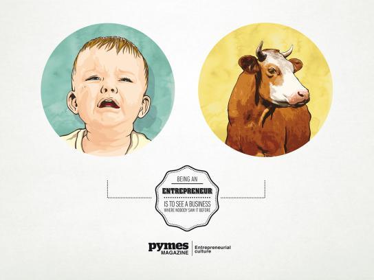 Pymes Magazine Print Ad -  Milk