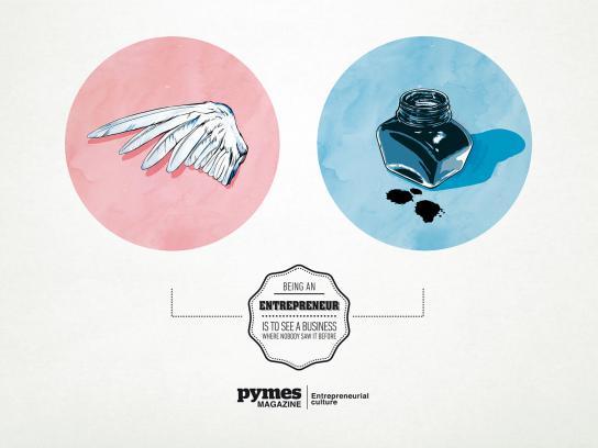 Pymes Magazine Print Ad -  Pen