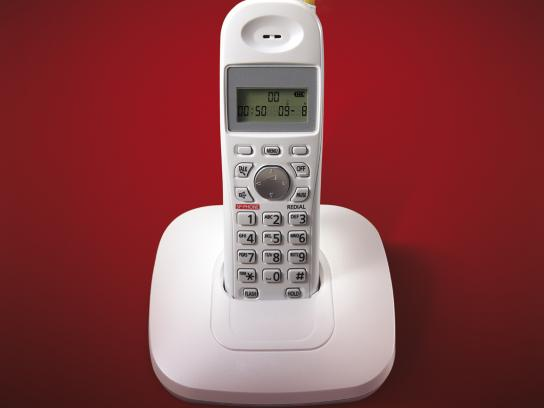 Pizza Hut Print Ad -  Cordless phone