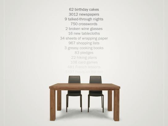 Quattro Mobili Print Ad -  Table