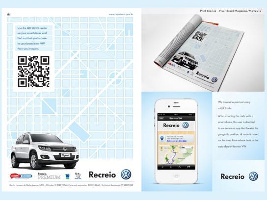 Volkswagen Print Ad -  QR Code