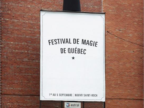 Quebec city magic festival Outdoor Ad -  Magic hat and pigeons