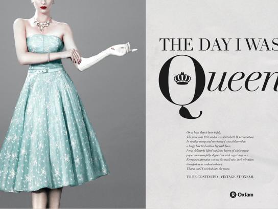 Oxfam Print Ad -  Queen