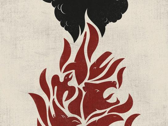 Minas Gerais Print Ad -  Fire