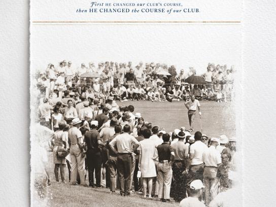 Quail Hollow Club Print Ad -  Arnold Palmer