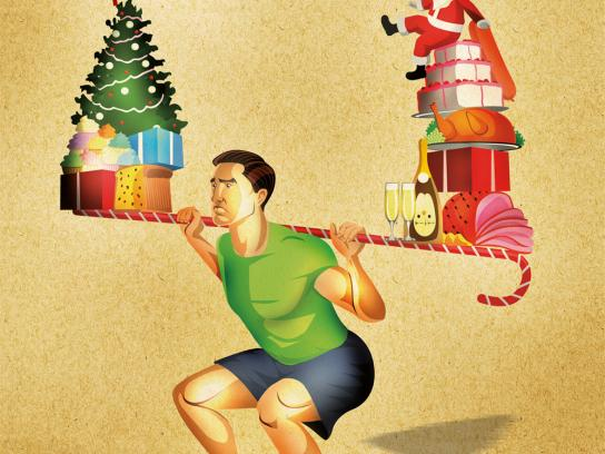 R2 Fitness Club Print Ad -  Christmas Guy