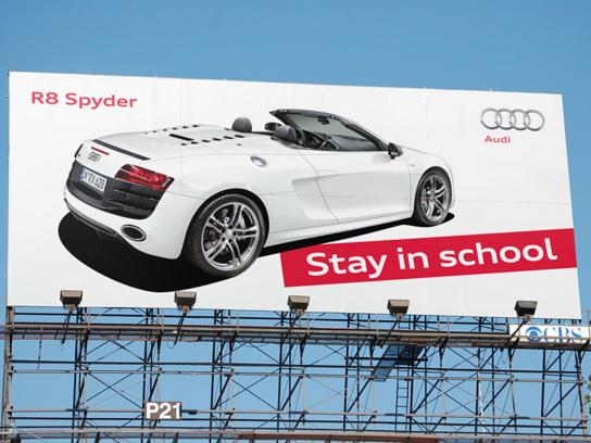 Audi Outdoor Ad -  Stay in school