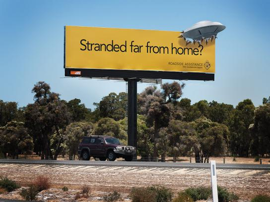 RAC Outdoor Ad -  UFO