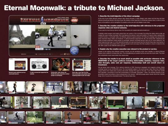 Studio Brussels Ambient Ad -  Eternal Moonwalk