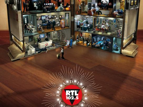 RTL Print Ad -  The first Italian radiovision