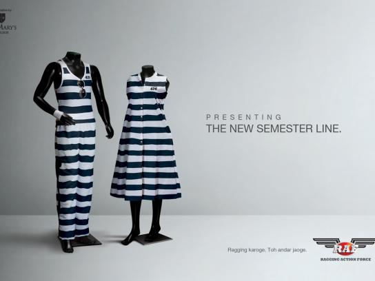 St. Mary's College Print Ad -  New semester