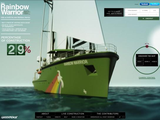 Greenpeace Digital Ad -  The new Rainbow Warrior