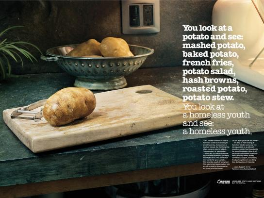 Raising The Roof Print Ad -  Potato