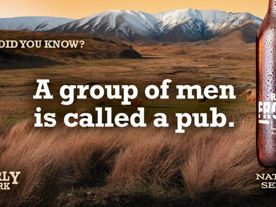Ranfurly Frontier Outdoor Ad -  Pub