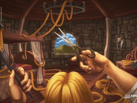 Essenciale Beauty Center Print Ad -  Rapunzel