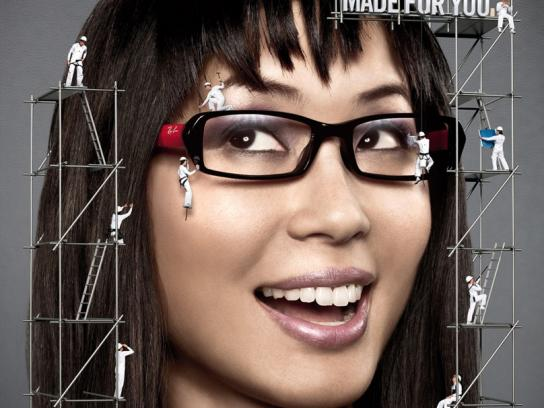 Ray-Ban Print Ad -  Girl