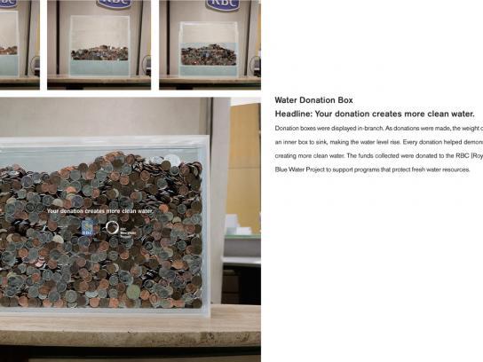 Royal Bank of Canada Ambient Ad -  Water Donation Box