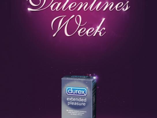 Durex Print Ad -  Happy Valentines Week