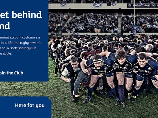 RBS Print Ad -  Let's get behind Scotland