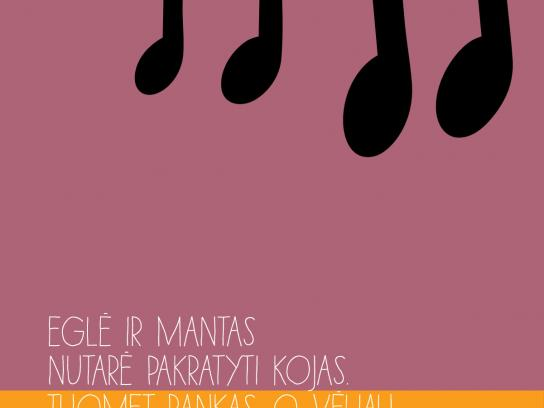 RadioCentras Print Ad -  Eglė and Mantas