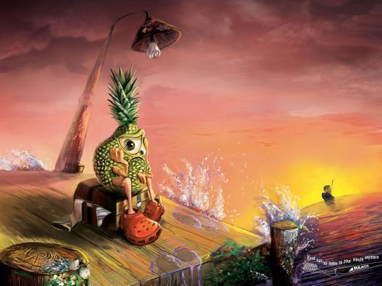 Reach Print Ad -  Pineapple