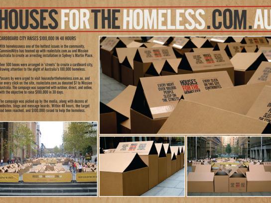 realestate.com.au Ambient Ad -  Cardboard city