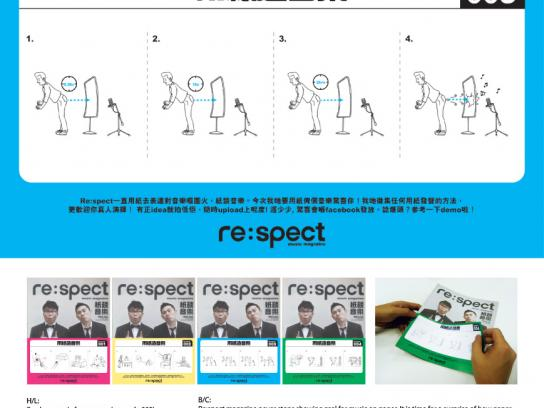 Re:spect Print Ad - spect Magazine  Music On Paper, Recruitment-Fart