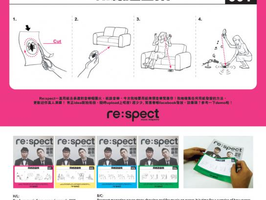 Re:spect Print Ad - spect Magazine  Music On Paper, Recruitment-Roach