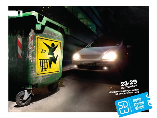 Sofia Dance Week Print Ad -  Recycle bin