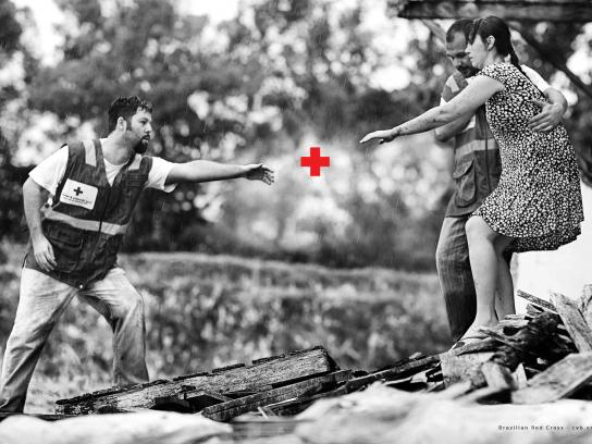 Red Cross Print Ad -  Plus Sign, 1