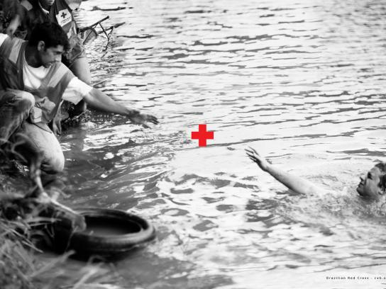 Red Cross Print Ad -  Plus Sign, 2
