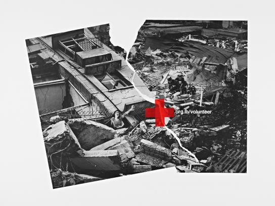 Red Cross Print Ad -  Earthquake