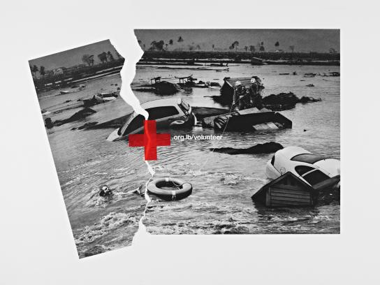 Red Cross Print Ad -  Flood