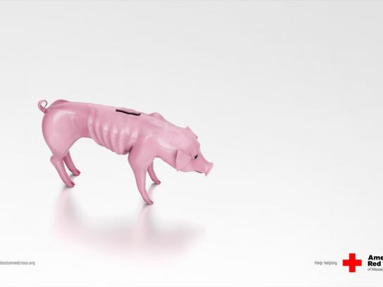 Red Cross Print Ad -  Piggy