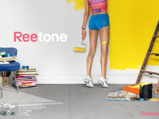 Reebok Print Ad -  Paint